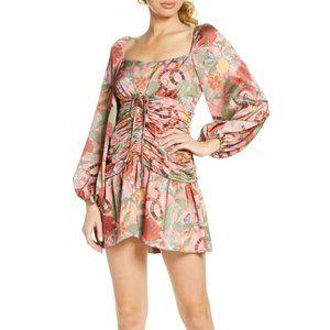 NWT Finders Keepers Elisa Ruched Mini Dress